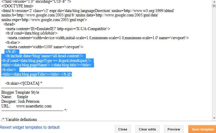 Improve appearance on SERPs by changing Title format on Blogger