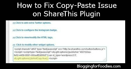 How to Fix Copy-Paste Issue on ShareThis with Java Script